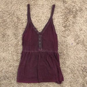 Washed burgundy tank top. Super soft and pretty
